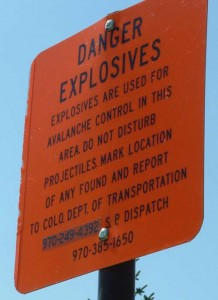 Danger Explosives?