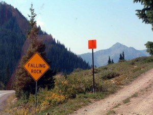 The Turn Off from the Million Dollar Highway.