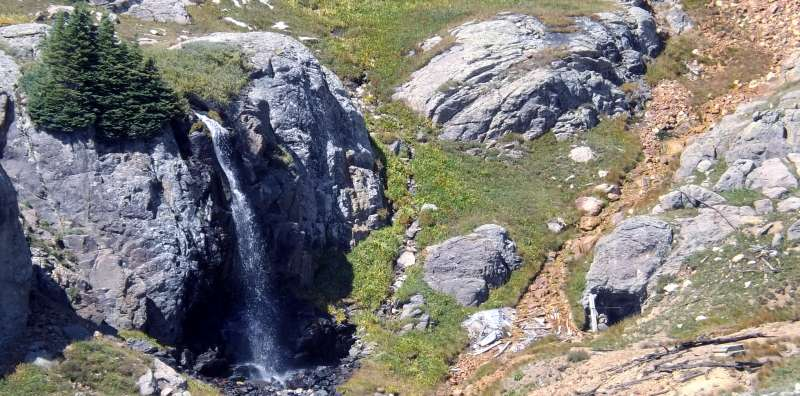 An Alpine Waterfall and the Hydro-Electric Plant
