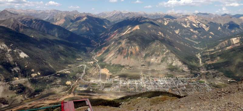 kendall mountain 4x4 offroad trail near Silverton Colorado