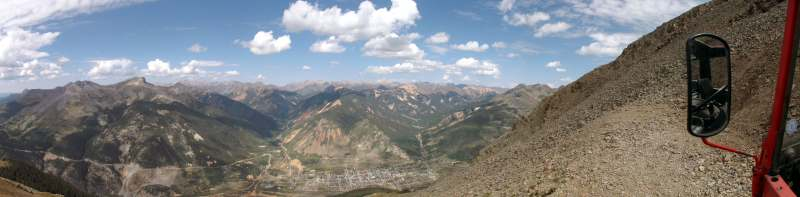 panoramic from the top of the 4 wheel drive road