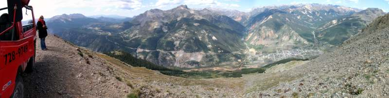 Panoramic from the Top of the Kendall 4 wheel drive road
