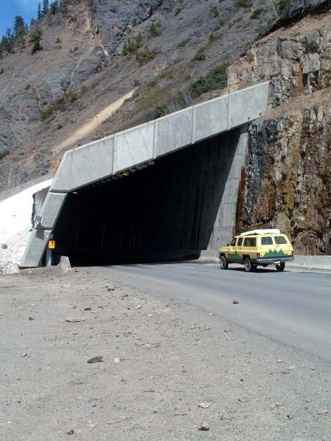 million dollar highway avalanch snow shed