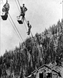 In the old days, miners would ride in ore buckets from the Mayflower Mill near Silverton to their work high above in Arastra Gulch. Now, if a local zip line developer has his way, the historic tram line infrastructure will be put to use for a new brand of adventure. (Photo courtesy of the San Juan County Historical Society) Read more: Watch Newspapers - Zip Into History in Silverton This Summer
