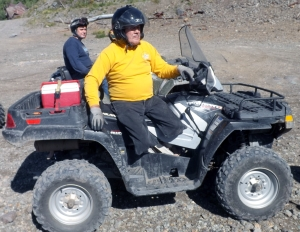 An Adaptive ATVer having a blast in the high country