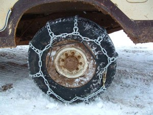 Chains on your Snow Plow Rig!